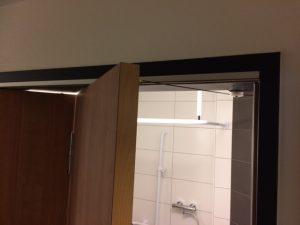 Falttürschließer über Federseilrollen an Türen im Vinzenz von Paul Hospital in Rottweil